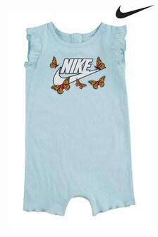 Nike Infant Blue Butterfly Romper