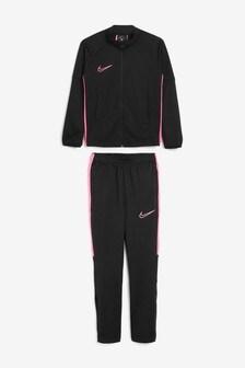 Nike Black/Pink Academy Tracksuit