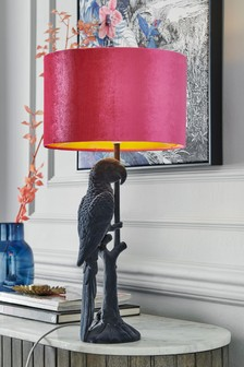 Grey Perry Parrot Table Lamp