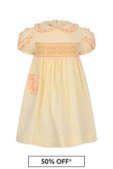 فستان أبيضللبنات البيبي Popeline