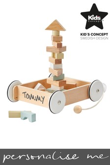 Pull Along Wagon With Blocks by Sweden Concepts
