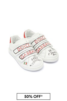 Baby Girls White Leather Trainers