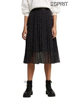 Esprit Recycled Chiffon Plissé Skirt