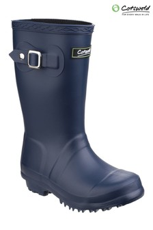 Cotswold Blue Buckingham Wellington Boots