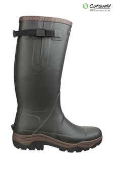 Cotswold Green Compass Neoprene Rubber Wellington Boots