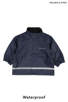 Polarn O. Pyret Blue Waterproof Raincoat