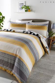 Fusion Hendra Reversible Duvet Cover and Pillowcase Set
