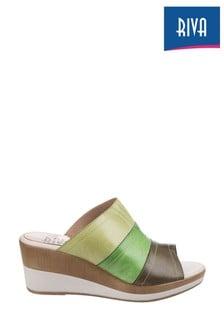 Riva Blue Santo Wedge Mule Sandals