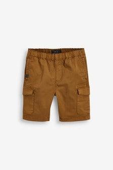 Tan Pull-On Cargo Shorts (3-16yrs)