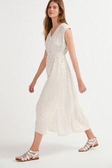 Mono Spot Sleeveless Maxi Dress