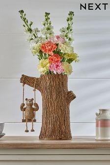 Brown Bertie Bear Swing Vase