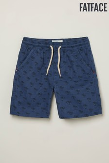 FatFace Blue Studland Palm Print Shorts