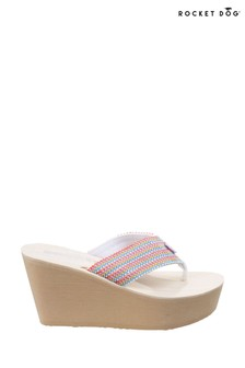 Rocket Dog Pink Diver Groovy Stripe Wedge Sandals
