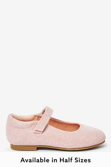 Pink Glitter Mary Jane Shoes (Younger)