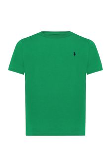 Baby Boys Green Cotton T-Shirt