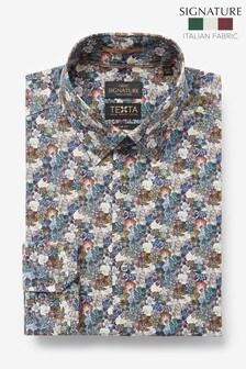Neutral Slim Fit Single Cuff Italian Fabric Texta Signature Shirt