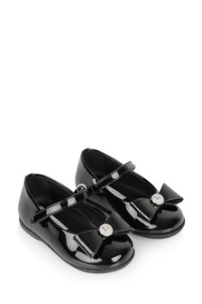 Baby Girls Black Patent Pumps