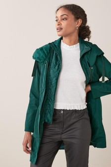 Green Premium Lightweight Rain Mac