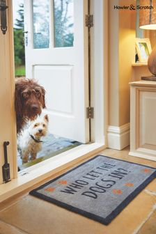 Howler & Scratch Dogs Slogan Washable And Recycled Non Slip Doormat