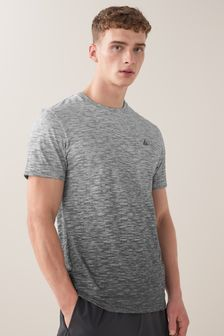 Grey Ombre Print Short Sleeve Tee Next Active Gym Tops & T-Shirts