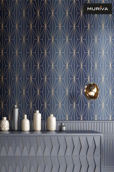 Kayla Metallic Geo Wallpaper by Muriva