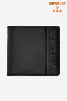 Superdry Black Vermont Bifold Leather Wallet