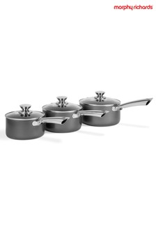 Set of 3 Stainless Steel Pan Set by Morphy Richards