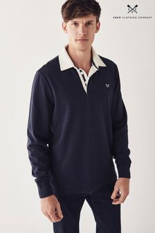 Crew Clothing Company Blue Crew Long Sleeve Rugby Shirt