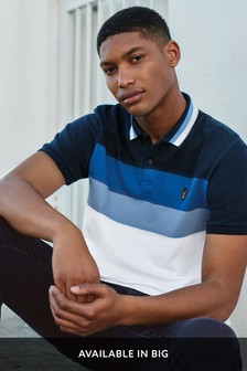 Blue/White Chest Blocked Polo