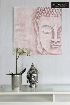 3D Blush Buddha Canvas by Arthouse