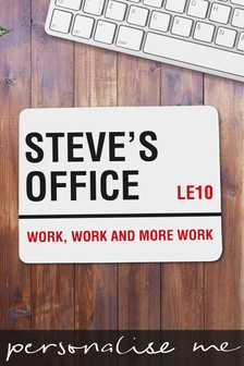Personalised Office/Work, Work & More Work Mouse Mat