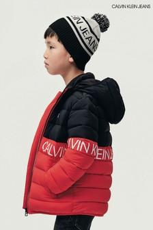 Calvin Klein Jeans Red Stretch Colourblock Jacket