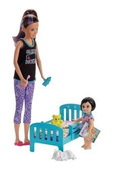Barbie Skipper Babysitters Playset Bedtime Doll & Accessories