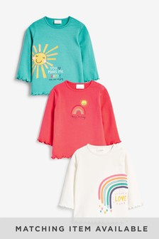 Multi Bright 3 Pack Bright Jersey Tops (0mths-2yrs)