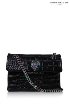 Kurt Geiger London Black Croc Mini Kensington Bag