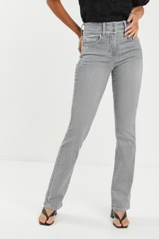 Grey Lift, Slim And Shape Boot Cut Jeans