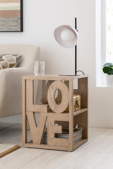 Love/Home Word Side Table