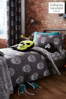 Skulls Easy Care Duvet Cover and Pillowcase Set by Catherine Lansfield