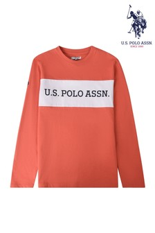 U.S Polo Assn. Cut & Sew Long Sleeve T-Shirt