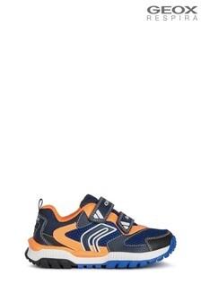 Geox Junior Boy's Tuono Navy/Orangefluo Shoes
