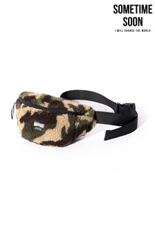 Sometime Soon Camouflage Shearling Bum Bag