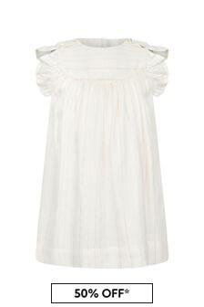 Tartine et Chocolat Baby Girls Cream Cotton Dress