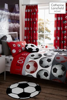 Football Easy Care Duvet Cover and Pillowcase Set by Catherine Lansfield