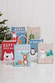 Set of 6 Christmas Gift Bags