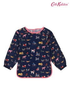 Cath Kidston Kids Blue Small Park Dogs Long Sleeve Apron