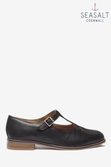 Seasalt Black Wide Fit Penpoll Shoes