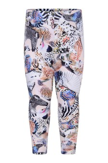 Baby Girls Pink Organic Cotton Animal Leggings
