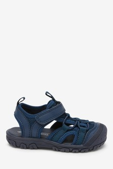 Navy Bump Toe Trekker Sandals (Younger)