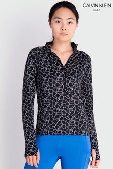 Calvin Klein Golf Black Vibe 1/4 Zip Layering Top