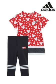 adidas Infant Red Minnie Mouse™ Dress And Leggings Set